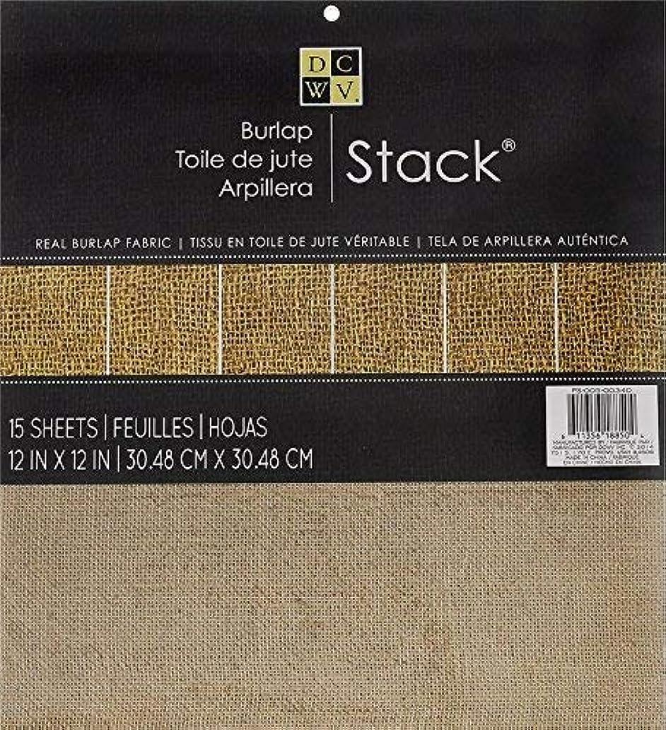 DCWV Burlap Stack - 15 Sheets - Real Burlap Fabric 12 x 12