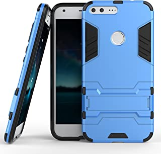 Google Pixel XL Case, Hybrid Armor Case [2 in 1] Lightweight Hard PC Cover + Flexible TPU Shock Absorption & Scratch Resistant with Kickstand for Google Pixel XL(2016) 5.5 inches - Blue