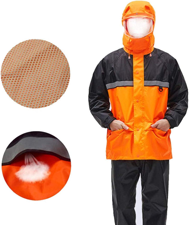 LIYONG Rain Poncho, Raincoat Outdoor Windbreaker Raincoat Raincoat Rain Pants Suit Split Waterproof Raincoat Breathable Wear