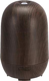 Amazon Basics 100ml Ultrasonic Aromatherapy Essential Oil Diffuser, Dark Wood Grain Finish