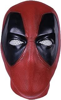Mens Superhero DP Mask Halloween Cosplay Costume Accessories PVC Knit Latex Mask