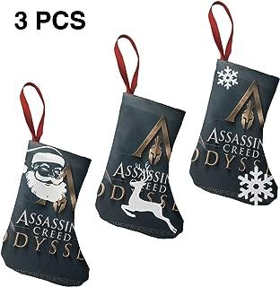 IROTJYH1 Assassin's Creed Odyssey-3 Santa Snowman Reindeer Christmas Stockings 3 Pcs Set 7.5