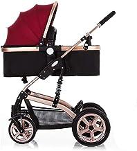 WRJY Carro de bebé Plegable de Alta Vista antichoque, Cochecito de bebé Ligero con Paraguas, con Sistema de Viaje Duradero, para Cochecito Compacto All Terrain City
