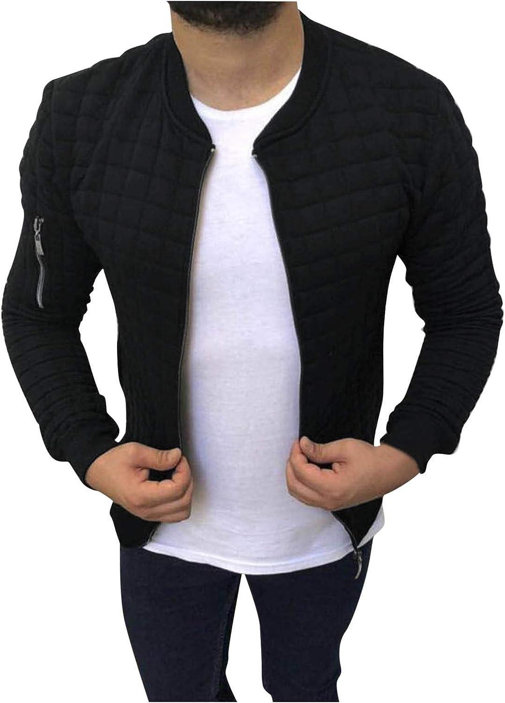 JAZHIJIA Men's Long Sleeve Jacket Zipper Rare Outwear C Autumn-Winter Directly managed store