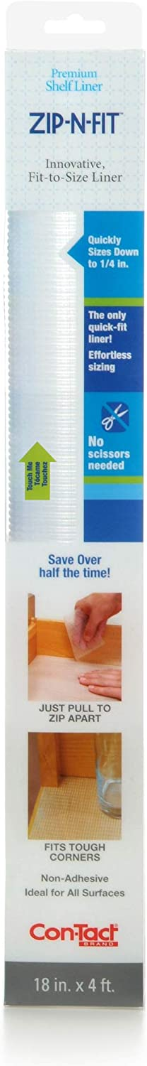 Con-Tact Brand Adhesive Zip-N-Fit Solid quality assurance No Shelf and Grip Max 46% OFF Drawer