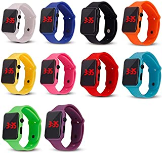 Weicam 10 Pack Unisex Children`s Kids LED Wrist Watch Silicone Student Electronic Sports Watch Bracelet Wholesale