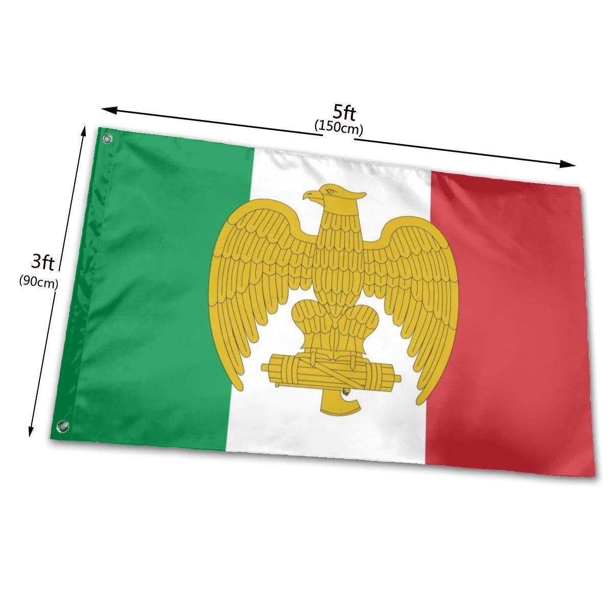Gsixgoods Bandera Bandera De La Italia Fascista Flags 3x5 Feet -Nylon Flags with Bright Vivid Color and Premium Material for Outdoor, Longest Lasting for Outside(Breeze Style): Amazon.es: Jardín