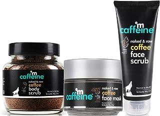 MCaffeine Coffee De-Tan Kit   Exfoliation   Body Scrub, Face Scrub, Face Mask   Oily/Normal Skin   Paraben and Mineral Oi...