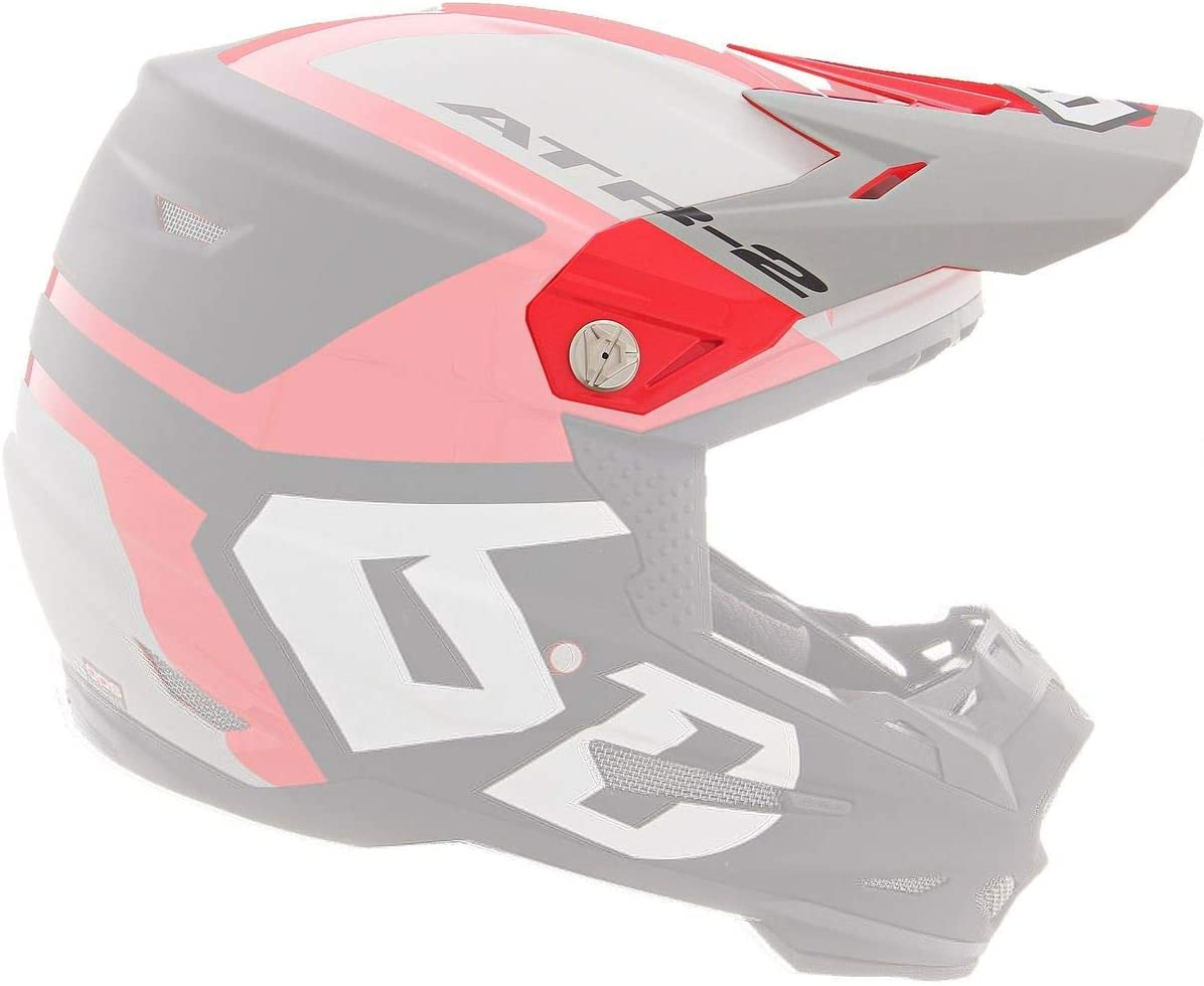 6D Long Super popular specialty store Beach Mall Helmets ATR-2 Visor Grey RED Helo -