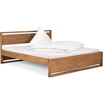 Massivum Salomon Bed 180 X 200 Cm Acacia Wood Natural Varnish Amazon De Kuche Haushalt