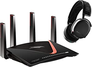 NETGEAR Nighthawk Pro Gaming XR700 WiFi Router with 6 Ethernet ports and wireless speeds up to 7.2 Gbps, AD7200,  with SteelSeries Arctis 7 (2019 Edition) Wireless Gaming Headset