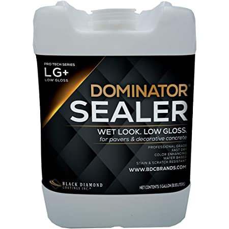 5 Gallon DOMINATOR LG+ Wet Look, Low Gloss Paver Sealer - Covers up to 2,000 Square feet