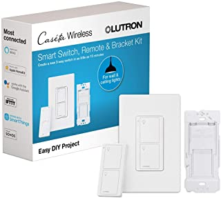 Lutron Caseta Switch & Remote-Wireless Control | 3-Way Switch | Compatible with Alexa, Apple HomeKit, and the Google Assis...