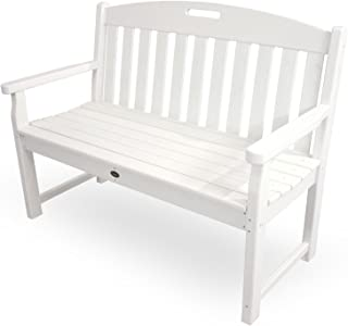 Trex Outdoor Furniture TXB48CW 48-Inch Yacht Club Bench, Classic White