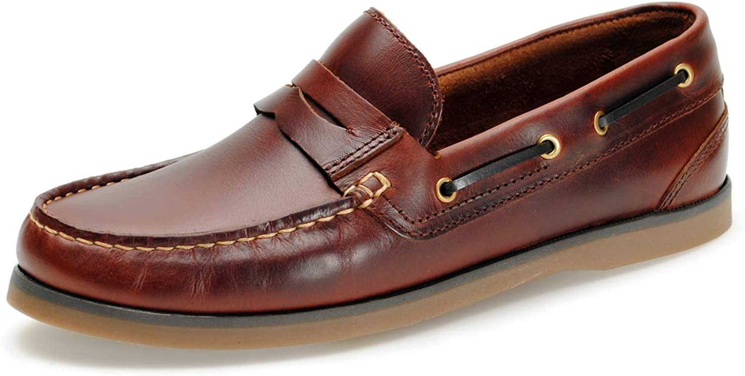 Jim Boomba Australian Style Full Leather Slip On Boat shoes - Deck shoes