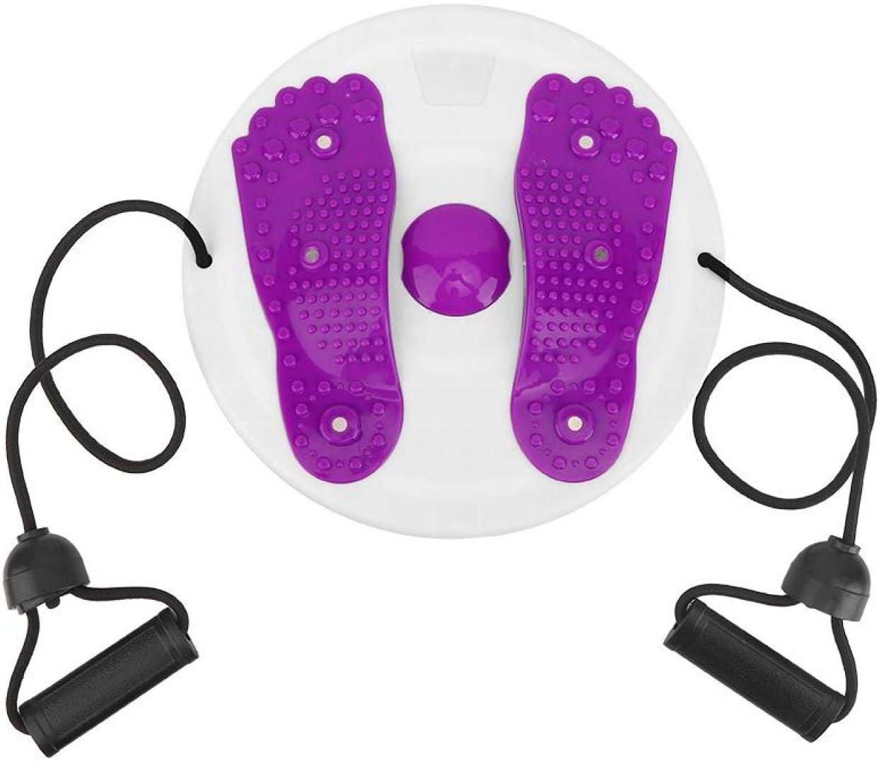 CUTULAMO Three Anti-Skid Pads Purple 10.6in Fitness Waist Twisti