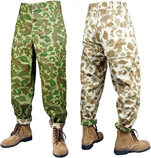 ZWJPW WWII US USMC Pacific Camouflage Field Trousers Pants Shirt and Trousers