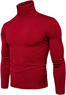 INMINPIN Men's Slim Fit Turtleneck Sweater Casual Knitted Pullover Thermal Soft Basic Tops Autumn and Winter 2019 New