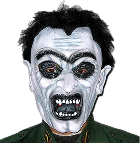 NUOKAI Halloween Maskerade Maske Horror Grimasse Maske Latex Kopfbedeckung, Zombie Maske