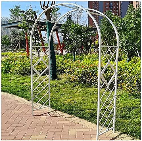 CDFCB Jardín Arco cuadrícula Escalada Marco Arco Flores Marco Engrosado 20 Tubo Cuadrado diseño novedoso Estilo Robusto y Duradero 1 4 * 2 3 m / 1 8 * 2 3M Multulización de múltipl