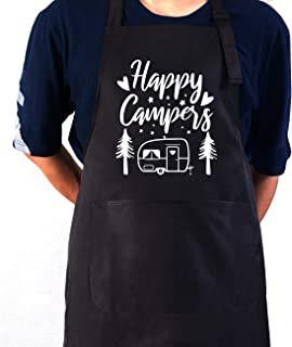 Camper Gift APR-003 Grilling Apron Father/'s Day Gift Camping Gift Personalized Gift Mens Gift Camp Chef Camping Apron Gift for Dad