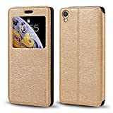 Oppo F1 Plus Case, Wood Grain Leather Case with Card Holder