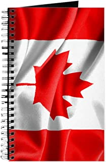 Journal (Diary) with Resplendent Canadian Canada Flag on Cover White
