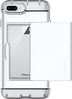 Spigen Crystal Wallet Designed for Apple iPhone 7 Plus Case (2016) / Designed for iPhone 8 Plus Case (2017) - Jet White