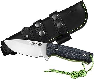 comprar comparacion iFIELD Cuchillo de Supervivencia y Caza Workout EL29118, Hoja Böhler N690CO de 11,5 cm, con Funda de Piel Negra, Mango TRF...