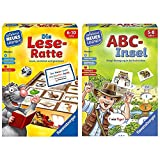 Ravensburger 24956 - Die Lese-Ratte - Spielen und Lernen für Kinder, Lernspiel für Kinder ab 6-10 Jahren & 24952 - ABC-Insel - Spielen und Lernen für Kinder - Spiel für Kinder von 5-8 Jahren