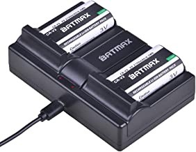 Batmax 2Pcs CR-V3 Battery + Dual USB Charger for Olympus C3000 C3040 C-40Z 2100UZ 3030 3040Z 4000 5050 740 750 730 4040 3020 D390 D510 Camera 50 C-5050Z C-700 D510 Cameras