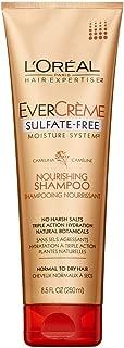 L'Oreal Paris EverCreme Sulfate-Free Moisture System Nourishing Shampoo, 8.5 Fluid Ounce