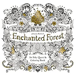 Johanna basford illustrated coloring book enchanted forest