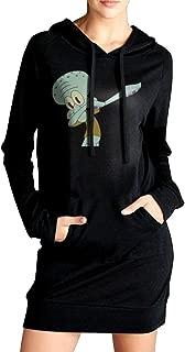 Dabbing Squidward Women Hoodie Sweatshirt Pullover Warm Long Sleeve Winter with Pocket