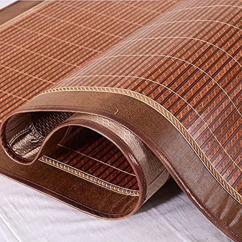 Enfriadores de Espacio Estera de Cama de bambú Colchoneta de Dormir de Verano Colchoneta de bambú de Doble Cara Plegable de 2 pers