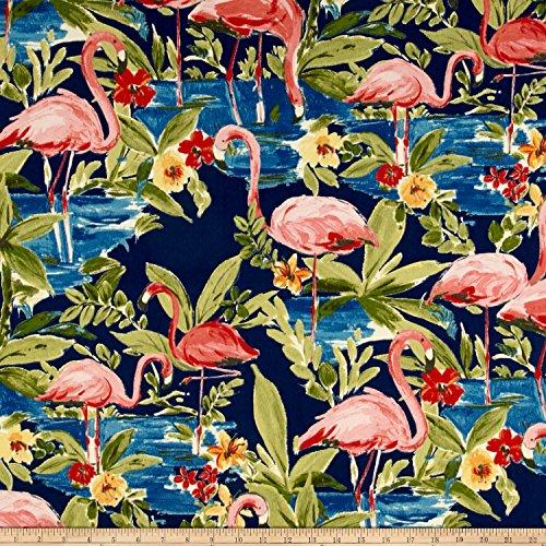 Waverly Sun N Shade Flamingoing Lagoon Fabric by the Yard