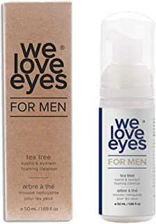All Natural Tea Tree Eyelid Foaming Cleanser/Wash FOR MEN - We Love Eyes - Relief for Blepharitis, Demodex, Dry Eye Symptoms, Wash Eyelashes, Reduce Itching Inflammation Redness