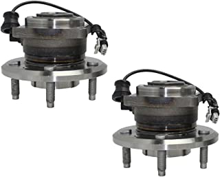 Detroit Axle Both (2) New Rear Complete Wheel Hub & Bearing Assembly - 4-Bolt Rectangular Flange w/ABS for 12-15 Chevy Captiva Sport - [07-09 Equinox] - 07-09 Torrent - [08-10 Vue] - 07-09 XL-7