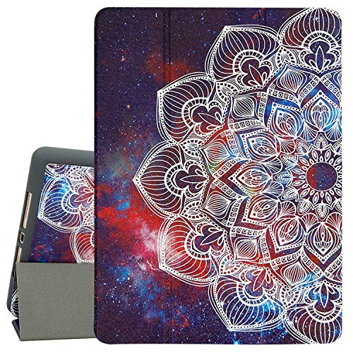 Hi Space Case for iPad 7th Generation 10.2' 2019, Mandalas Protective iPad Pro 10.5 Case 2017, iPad Air 3rd Gen Case, Auto Sleep/Wake, Trifold Stand Smart iPad Pro 10.5 inch Cover with Pencil Holder