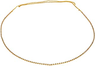 Town Of Trinkets Golden Rhinstone Bikini Belly Body Waist Layer Link Chain