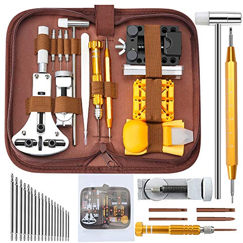 Watch Repair Tools Kits, Kingsdun 149pcs Watches Battery Replacement Watchband Link Remover Spring Bar Tool Kit with Carrying Case and Instruction Manual