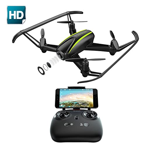 Potensic Drone with HD Camera, U36W Wireless RC Quadcopter Drone with 120 Degree Wide-Angle 720P HD Camera Altitude Hold One Button Take off Function