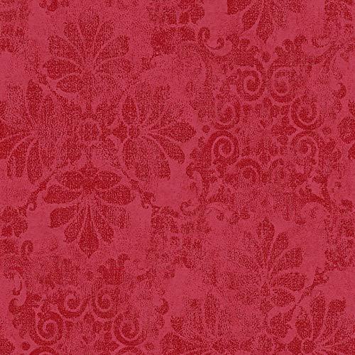 Vliestapete Barock-Tapete Ornament-Tapete 329873 32987-3 Innova Memory 3   Silber Rot   Rolle (10,05 x 0,53 m) = 5,33 m²