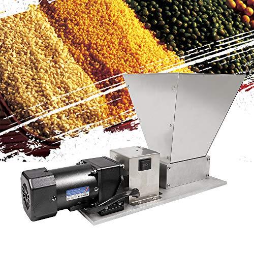 Elektrische Getreidemühle,Malzmühle, Schrotmühle, Schleifer Crusher, Grain Mill für Heimbrauer Malt Mill Brewers, Der Trichter fasst gleichzeitig 4 kg