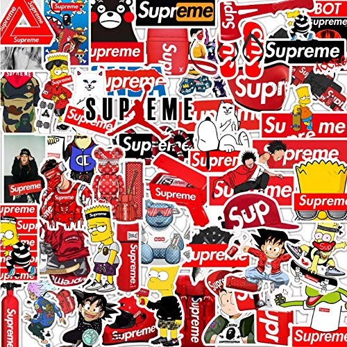 LZWNB Tide Brand Graffiti Stickers Equipaje Maleta Maleta Laptop Guitar Pegatinas Impermeables 50 Hojas