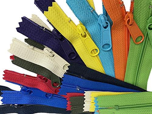 ZipperStop Distributor YKK Wholesale Authorized Sale 14 Handbag Assorted Season Colors 4.5 with Extra-Long Pull (10 Zippers/Pack) Duplicate Brites, Lights,Dark,neons.hot