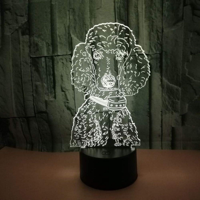 Fdlzz Hund 7 Farbe 3D Visuelle Lampe USB Schreibtischlampe Tischplatte Led Nachtlicht Schne Kinder Spielzeug Tischlampe Für Schlafzimmer,Berührungsschalter