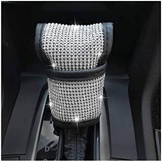 Pursuestar Bling Crystal Diamond Gear Shift Knob Cover Pad Car Decor Accessory Fit Most Manual Automatic Vehicles 5 6 Speed