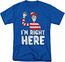 Popfunk Where's Waldo I'm Right Here Funny Quote T Shirt & Stickers