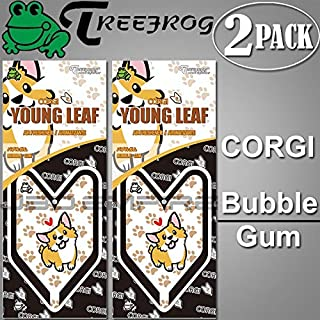 JBD Empire 2 Pack Treefrog Wakaba Young Leaf Japanese Air Freshener JDM Car Auto Corgi - Bubble Gum Scent